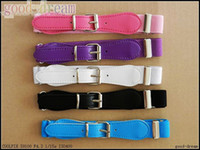 Wholesale Baby elastic belt children belt boys and girls candy color belt elastic Black Belts