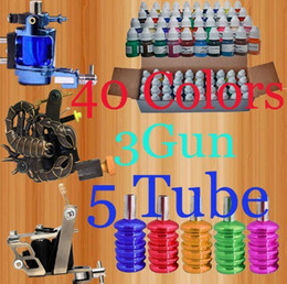 Wholesale Professional Color Inks ML Quality Guns Tattoo Kit Colorful Tube Grips Tattoo Supply ML005