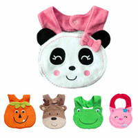 Wholesale Baby BIBs Feeding Saliva Towel Infant Animal Vegetable Lunch Bibs Cartoon Designs Hot
