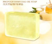 New handmade soap - 2 Bars Handmade PROPOLIS ESSENTIAL OIL SOAP g Transparent Soap Pure Plant Formula
