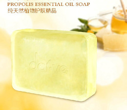Wholesale 2 Bars Handmade PROPOLIS ESSENTIAL OIL SOAP g Transparent Soap Pure Plant Formula