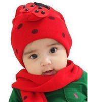 Wholesale 2014 NEW Fashion High Quality New Design the Child the Red hat scarf per set