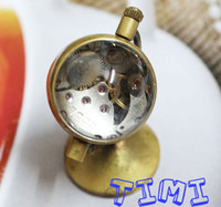Antique antique glass bells - 2012 hotsale Globe Design Crystal Ball Glass Vine Pocket Watch Bell freeship