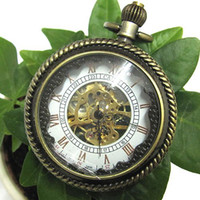 Wholesale Antique Bronze Copper Mens Ladies Pendant Pocket Watch