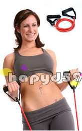 Fitness Equipments Resistance Bands yoga pure latex resistance band tube exercise training 1.35m free ship
