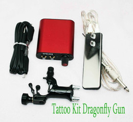 Wholesale Rotary Tattoo Motor Machine Gun Kits amp Hand Size Power Supply Clip Cord Footswitch Pro Ml14