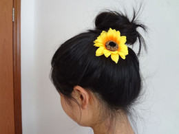Wholesale 100pcs Wedding Party Sun Flower Hair Clips Woman Bride Flower Hair Fascinator Flower Brooch