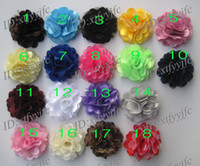 Wholesale 3 quot Satin Mesh Silk Flowers Charlotte Tulle Puff Flower Head hydrangea hair accessories without clip