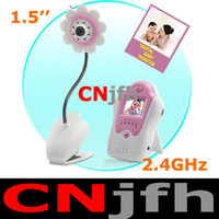 Wholesale 2 G inch portable cordless flowerlike wireless camera baby monitor