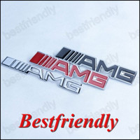 amg tuning - 100pcs Colors AMG Metal Hood Grill Badge Emblem Badges For Car Tuning