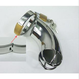 Wholesale Male chastity device Freeship Steel Chastity Cock Cage with Ring amp Padlock