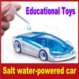 Wholesale 10PCS DIY Green Brine Power Car Energy Salt Water powered Car Educational Children s Toys Child Gift OPP Bag