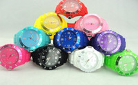 Wholesale 30PCS Colors Luxury Student Unisex Colorful Candy Jelly Watch Ladies Women s Mens Men s Watches