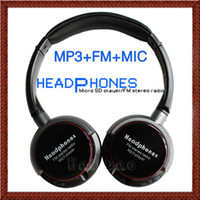 Wholesale Wireless HI FI Music Stereo Headphones Headset Earphone Microphone MP3 Player FM