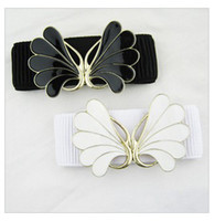 Wholesale Female Belt Romantic butterfly flower reasonable seal buckle belt P