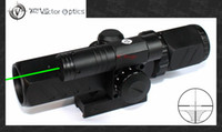 Wholesale Vector Brawn x32 Green Laser Gun Rifle Scope R14 RangeFinder Cross Hair Sight w Twin QD Mount