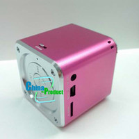 Wholesale New Mini Speakers Square Audio Box For Tablet pc loud speaker support SD by China product