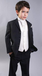 Wholesale New Style Boys Attire complete designer tuxedos boy wedding suit groom wear formal dress HK06