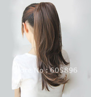 Wholesale summer New fashion ponytail hairpieces synthetic hair extension similar to human