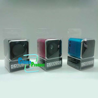 Wholesale New Mini Speakers Square Audio Box For Phone loud speaker Mix Color with retail package Quick