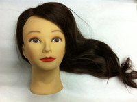 Wholesale Cosmetology Mannequin Head high quality human hair length quot can dry marecl dye for practice