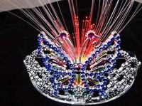 Wholesale Fashion LED Fiber Optic skull party optic light up hair braid hair halloween LED flash