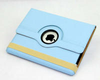 Wholesale high quality degree Rotating PU Leather Cover Case for ipad ipad smart stand with magnet