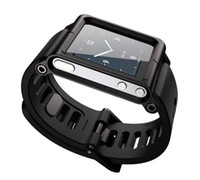 Wholesale LunaTik watch Kits band Aluminum Wrist Watch Cover Case Tiktok for mp3 Nano6 mix color