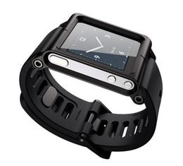 Wholesale LunaTik watch Kits band Aluminum Wrist Watch Cover Case Tiktok for mp3 Nano6 mix color