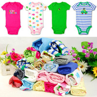 Wholesale baby Bodysuit Pack boys girls Short sleeve Rompers