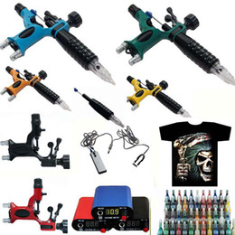 Wholesale Top Grade DRAGONFLY Rotary Tattoo Machine Gun Tattoo T shirt Tattoo kit Inks