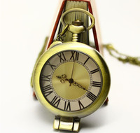 Wholesale Pocket watch Vintage Jewelry Alloy Long Necklace Antique Brass The Magnifying glass European x