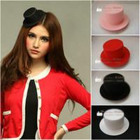 al por mayor parte de limpieza-Party los mini colores calientes del diseño 4 de Fascinator del pelo de la pluma del sombrero superior de los colores mezclados mezclados