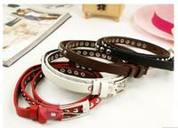 Female Belt Riveting set with fine leather belt 20pcs lot fr...