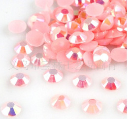 2000pcs 3MM Resin Jelly Light Pink AB Beads Flatback Scrapbooking Embellishment Craft nail art DIY