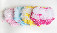Wholesale New Infant Kid children short Pants Baby ruffle bloomers dots lace love short Cotton Girls PP pants