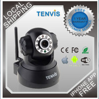 Wholesale Tenvis New Product Wireless IP Camera Webcam P T WiFi Internet Cam IR Night Vision for Indoor