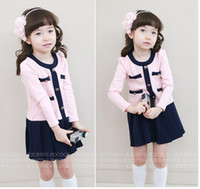 Wholesale 2012 Autumn NEW Baby lovely pink job style skirt cotton girls beautiful pink dress