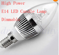 Hot sale 20pcs lot E14 E27 Dimmable LED candle lamp 4W 400LM...