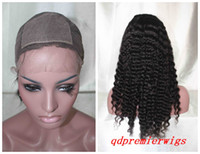 Wholesale Silk Top Full lace Wigs Natural Color Deep wave Small Cap Size X4 Silk Base
