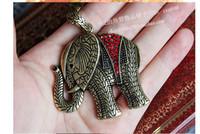Female Necklace Restore ancient ways the elephants 25pcs lot...