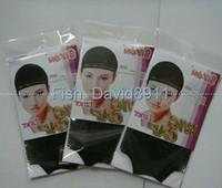 Asian Wigs baseball caps hair - 10pcs Black New Fishnet Elastic Weave Wig Cap Hair Weaving Fishnet Cap Baseball Cap
