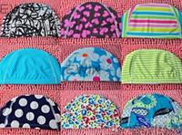 Wholesale 100x NEW Silicone Swimming Cap Lycra Swim Cap color designed swimming cap hat Bathing cap swimming hat