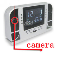 Wholesale Hidden camera Spy Digital Clock with HD Hidden Camera and Night Vision Motion Detecting Sample pc