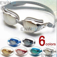 Wholesale anti fog anti ultraviolet swimming goggles swimming glasses silicone swimming glasses