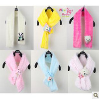 Wholesale Warm winter paragraph Christmas children s cartoon fashion plush scarf good quality