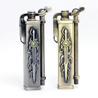 Wholesale Emboss Sword Pattern Cigarette Lighter Oil Lighters Colors Mix order Kunpenglucky