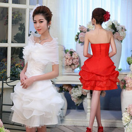 Wholesale Sweet and elegant wedding dress new short wedding dress