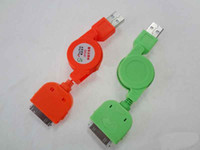 Wholesale USB Data Cable Charging Charger for hiphone G Cord Sync Retractable pc Drops from cn kingtop