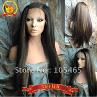 Wholesale 100 Hand tied Full lace wig Remy Human hair wigs Silky straight B inch in stock Top quality